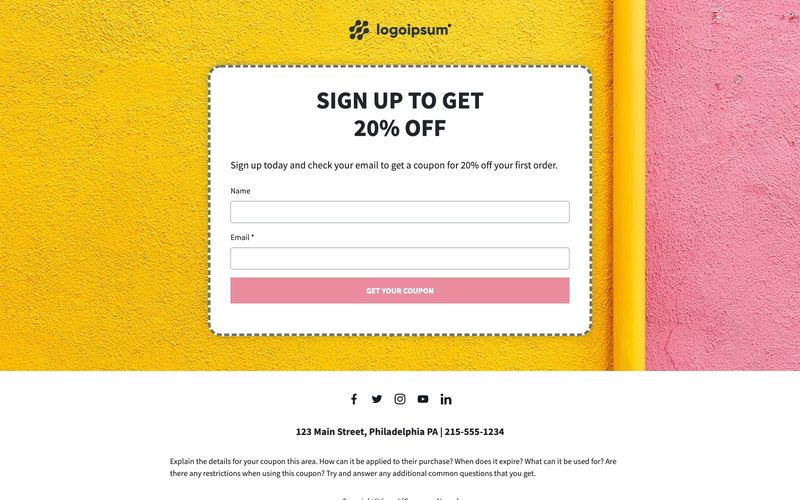 Coupon opt-in
