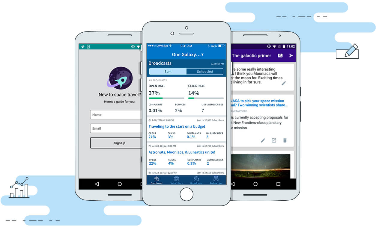 AWeber Mobile App Suite