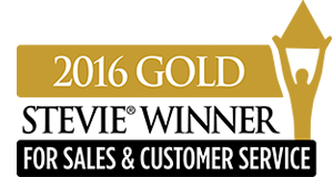 2016 Gold Stevie Award for Customer Service