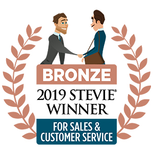 2019 Bronze Stevie Award for Customer Service