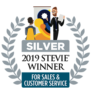 2019 Silver Stevie Award for Customer Service Department of the Year