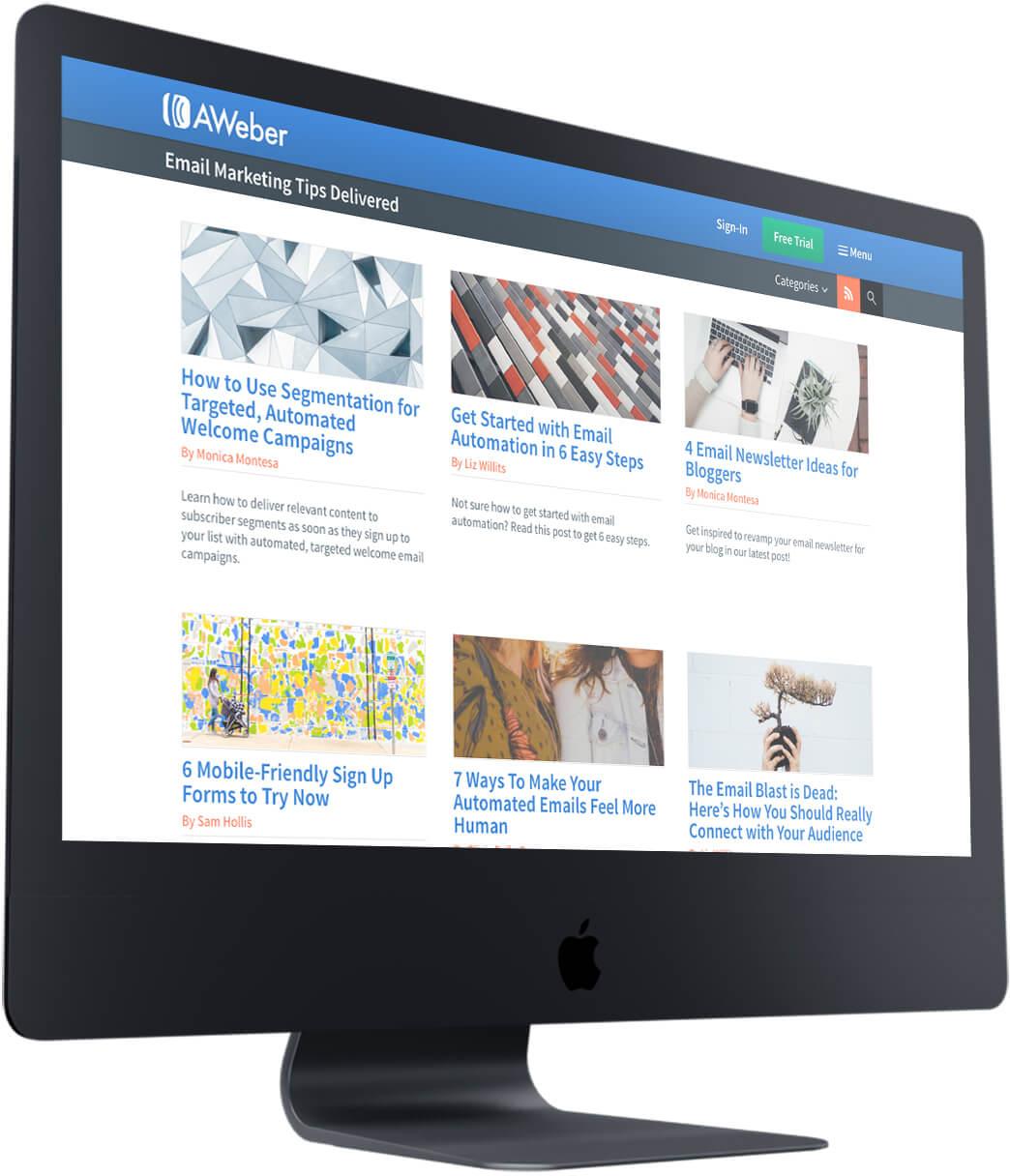 AWeber Blog Homepage