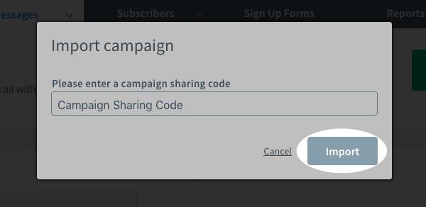 Paste Campaign Code