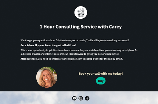 Carey Shoemaker Landing Page